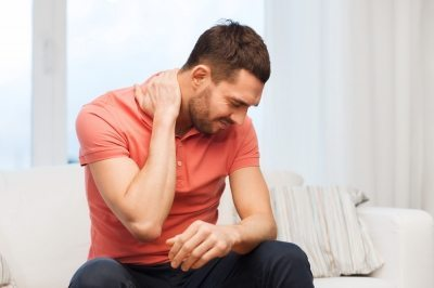 Man with sore neck